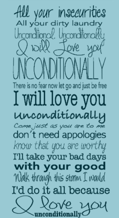 "An Inch of Inspiration Song about loving ""Unconditionally!"""